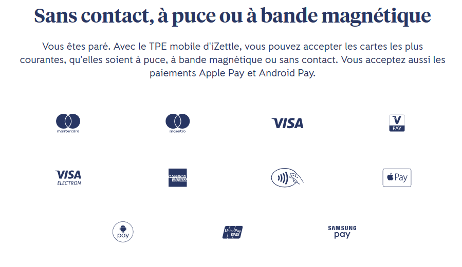 izettle paiement sans contact